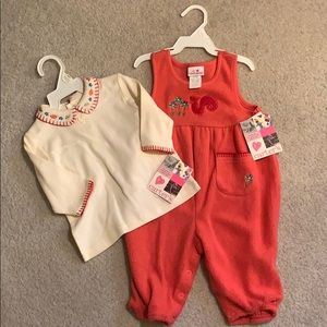 Carter's shirt and onesie fall squirrel set